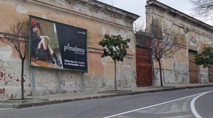 cartellone pubblicitario Via San Paolo Sassari