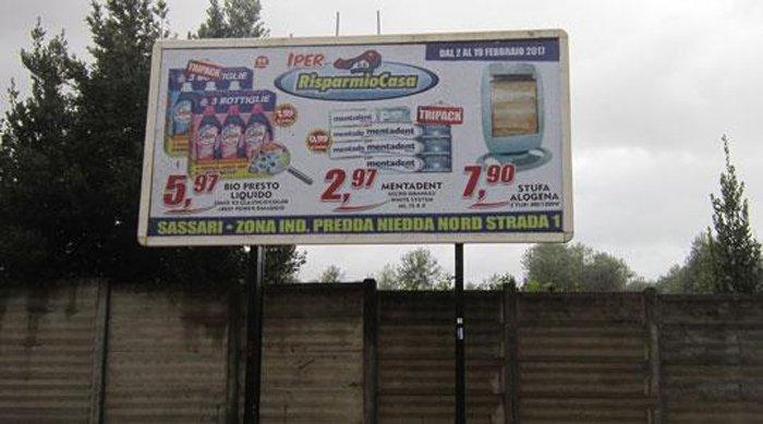 Cartellone pubblicitario Via Cilea 2 Sassari