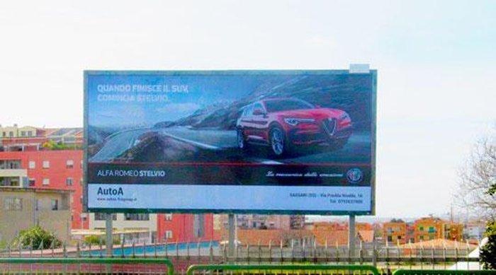 Cartellone pubblicitario Piazza Antonio Segni 3 Sassari
