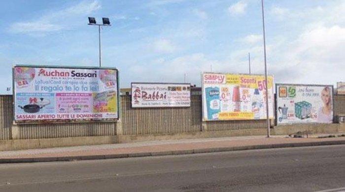 Affissioni pubblicitarie allo Stadio di Porto Torres