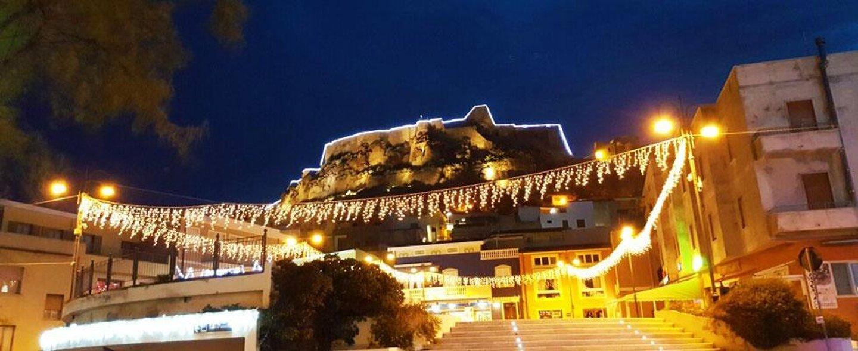 luci natalizie per decoro edifici
