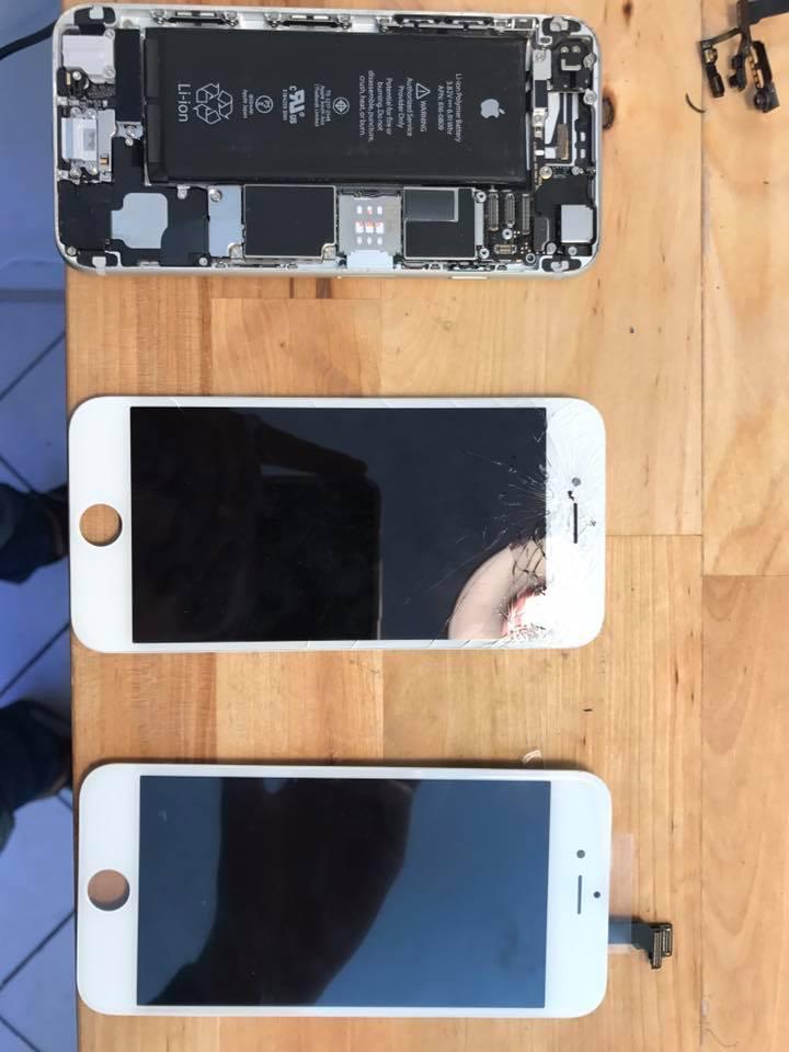 Iphone avanti e dopo la riparazione