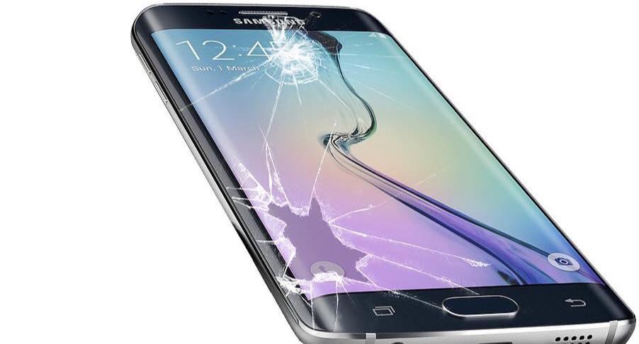 Samsung con il vetro rotto