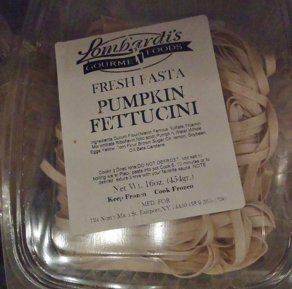 Lombardi's Brand Pumpkin Fettuccini Noodles