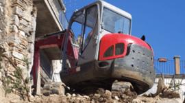 piazzali, macchine per movimento terra, lavorazioni edili