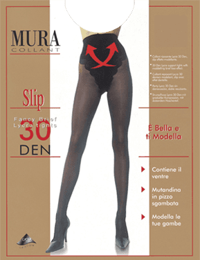Due gambe di una donna con dei collant  riposante-contenitive nero