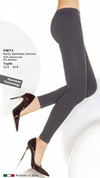 Due gambe di una donna con dei pantapantalone seamless damina grigio