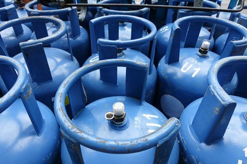 Blue color gas cylinder