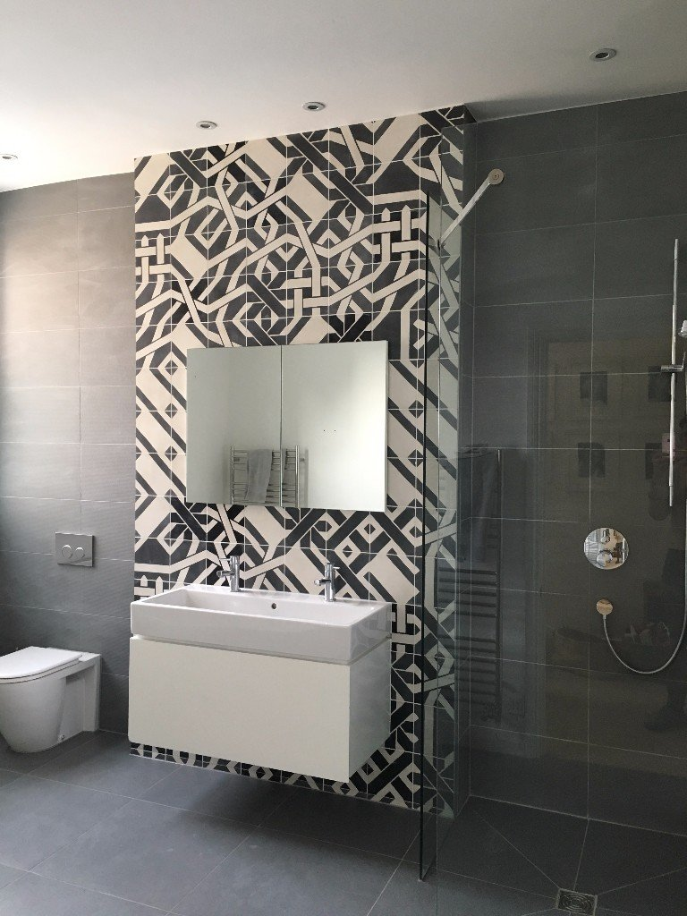 4 reasons why you need a feature wall in your bathroom with each tile having a different design the possibilities were endless on this feature wall amipublicfo Choice Image
