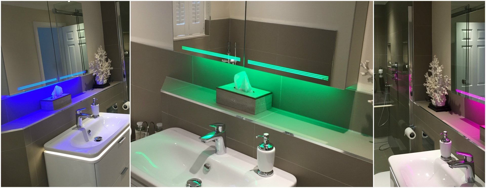 Light up your bathroom lifestyle floor lighting can improve your bathroom dramatically making the floor space look more spacious and the whole bathroom lighter and clearer mozeypictures Choice Image