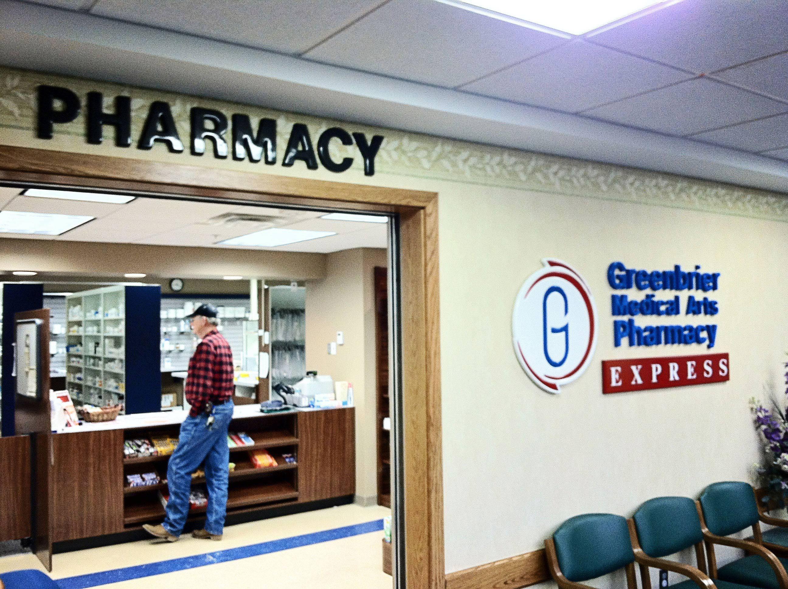 Pharmacy lettering in Covington, VA