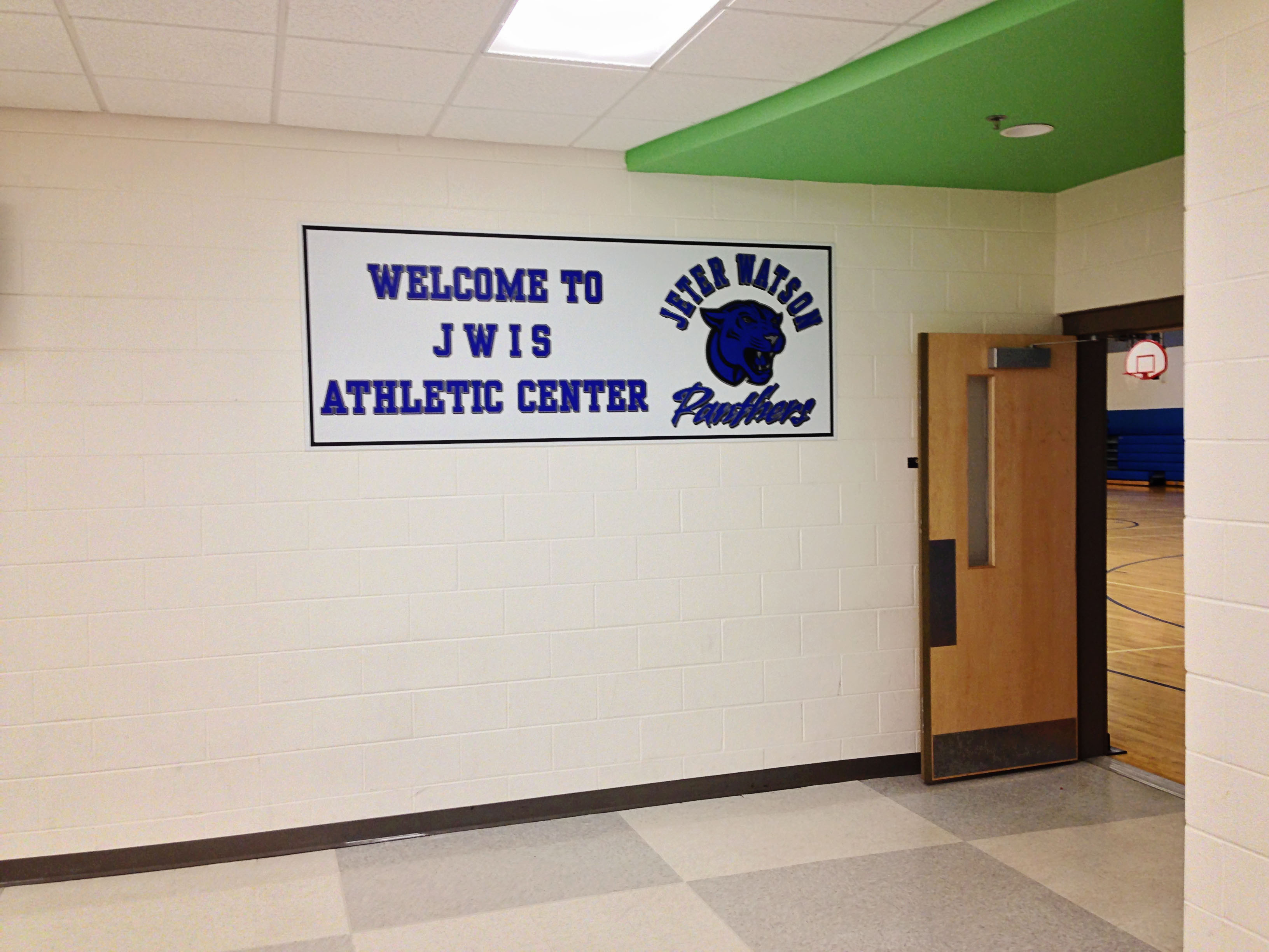 Custom-made sign of an athletic center in Covington, VA