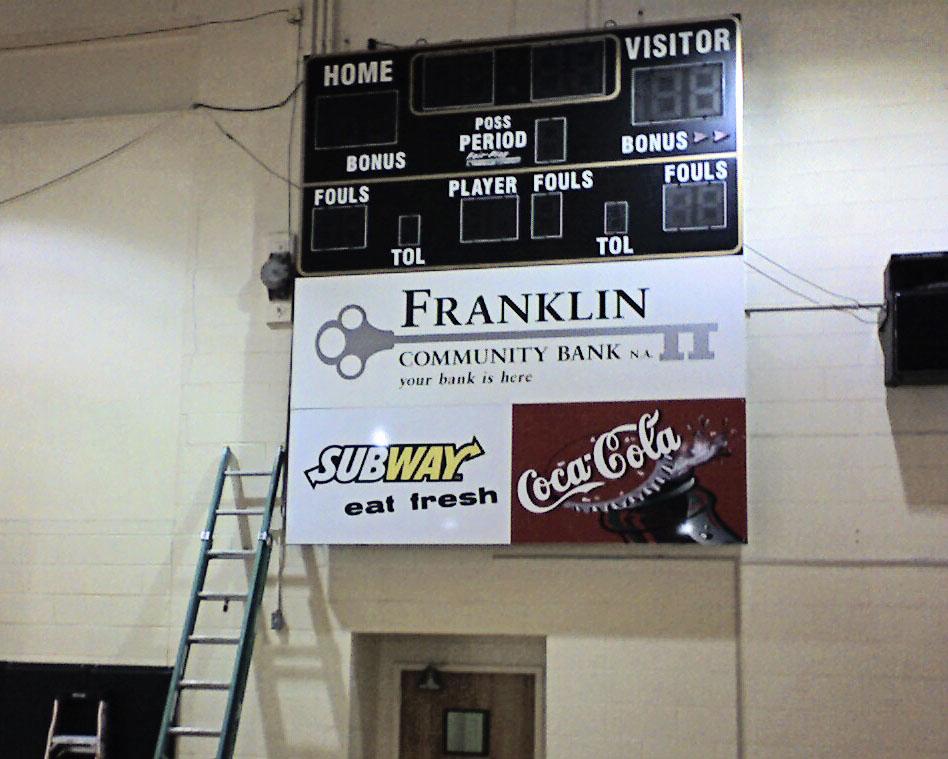 Custom-made scoreboard in Covington, VA