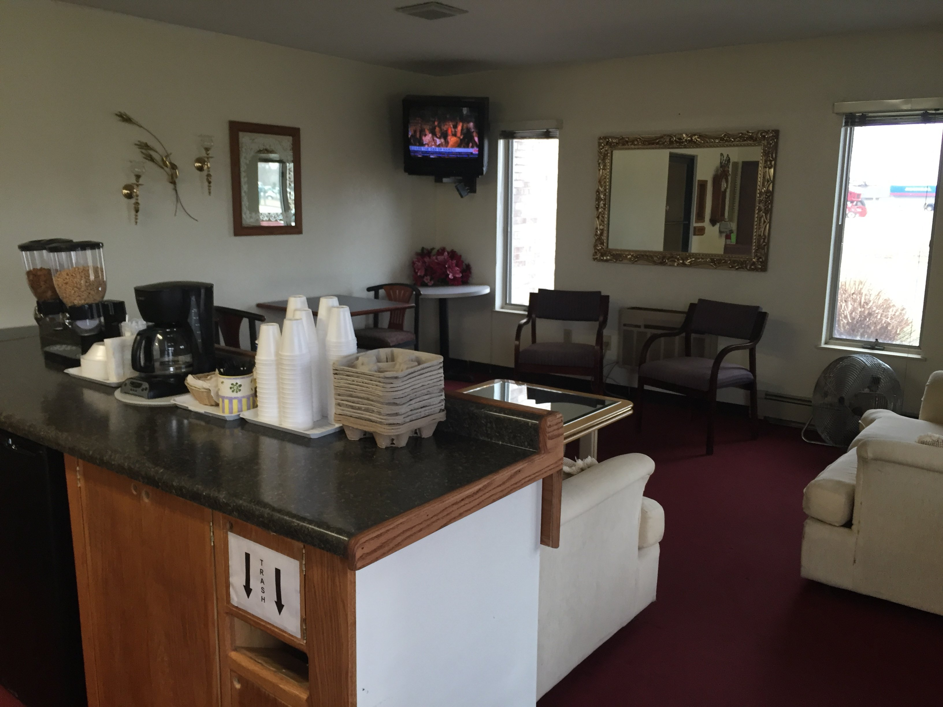 Interior view of the accommodations in Chesaning, MI