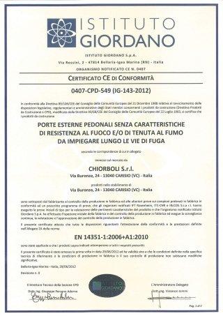certificazione porte esterne
