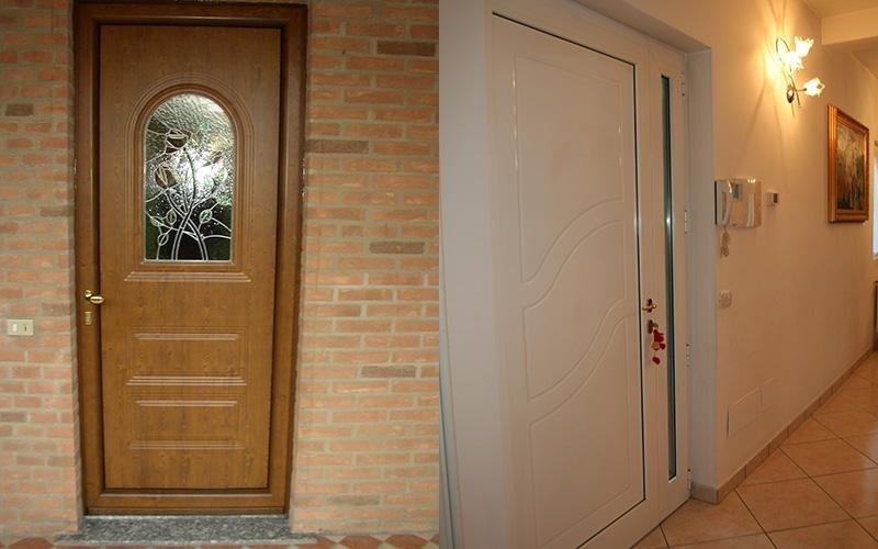 Porta in alluminio effeto legno