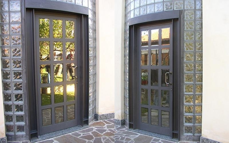 Portoncini di ingresso in alluminio brembate di sopra - Porte ingresso vetro ...