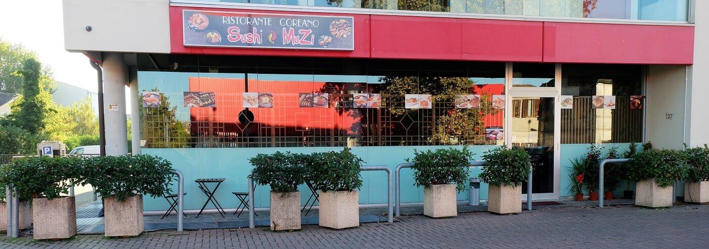 ingresso del ristorante coreano sushi muzi