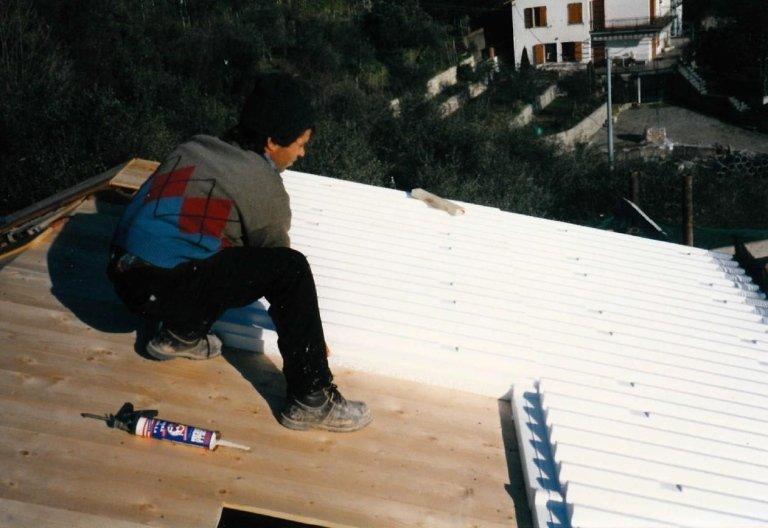 posa isolante tetto