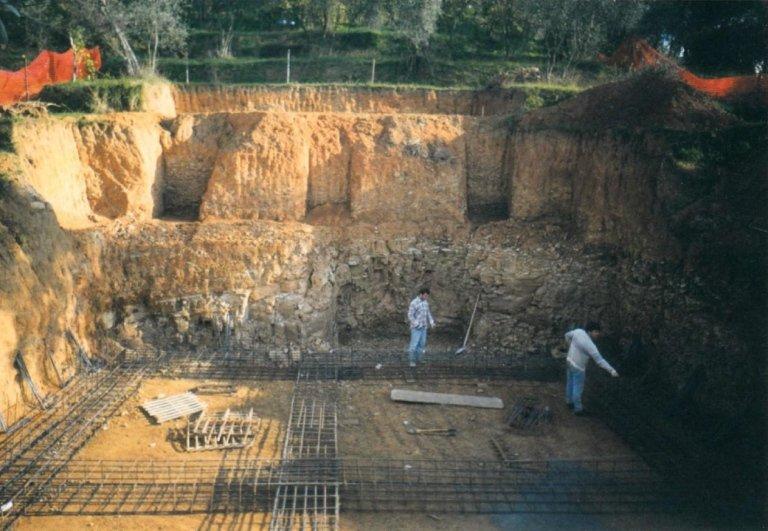scavo per edificio edile