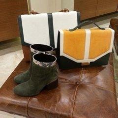 scarpe donna, borsa gialla