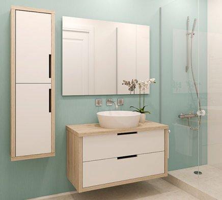 green modern minimalist bathroom