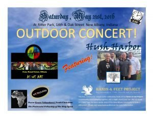 Exciting News Our Facilities Manager Perry McDaniel And His Band Hush Harbor Will Be Performing In A Concert Saturday To Benefit The Hands Feet