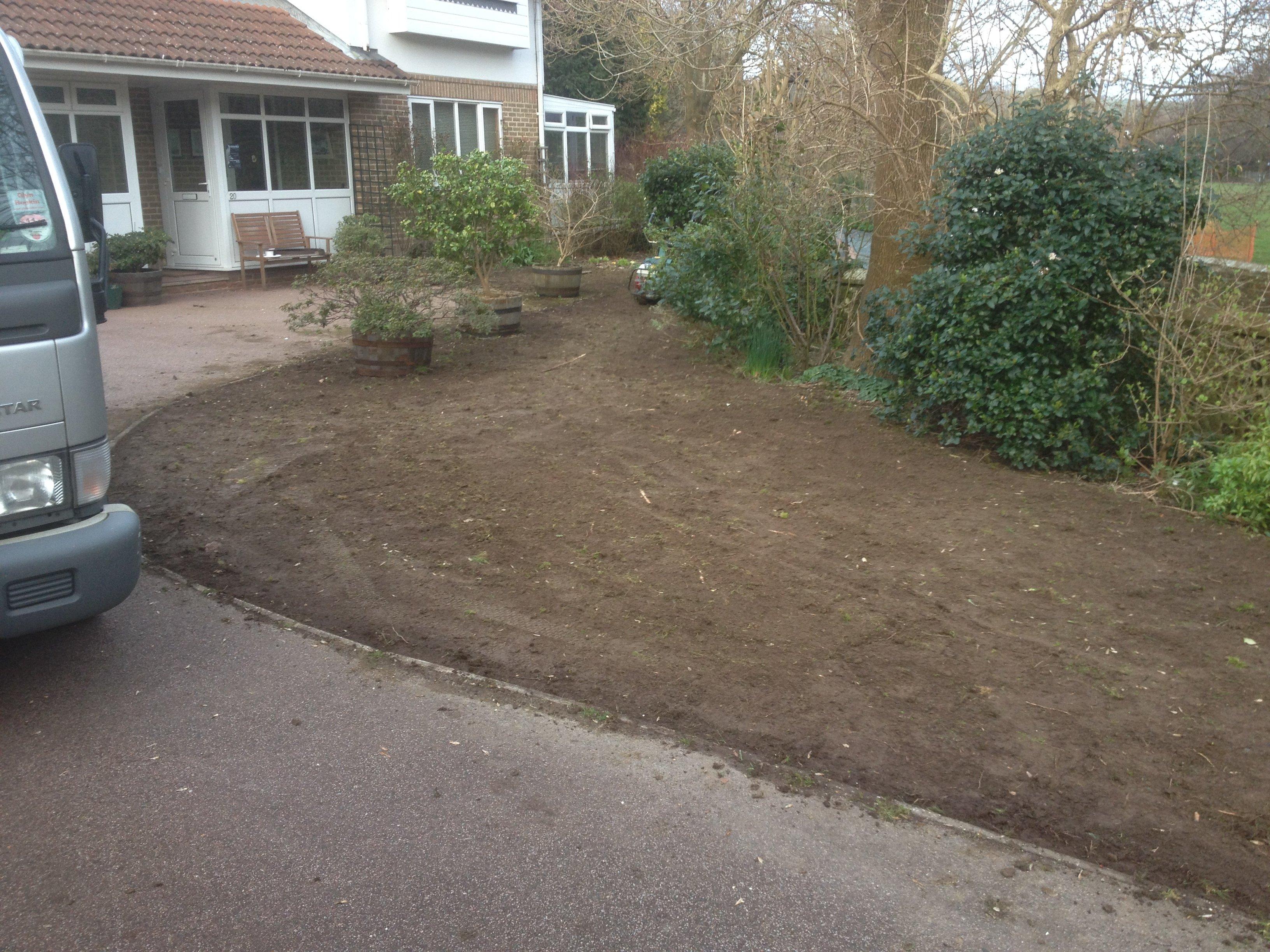 Garden work in progress