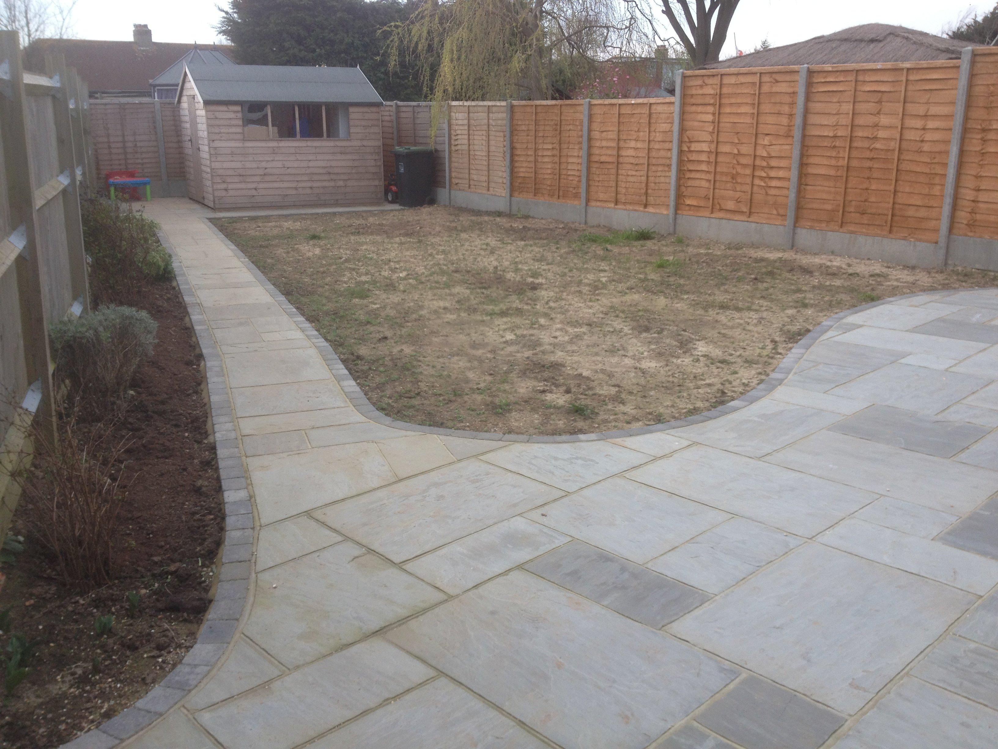 Garden pavement construction