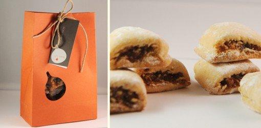 confezione regalo dei biscotti cuori di fichi