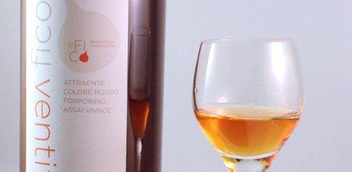 distillato di Fico bianco con calice di vino
