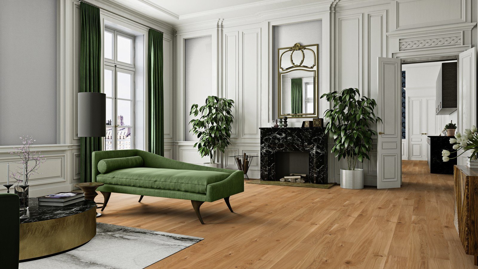 Large lounge with laminate floor