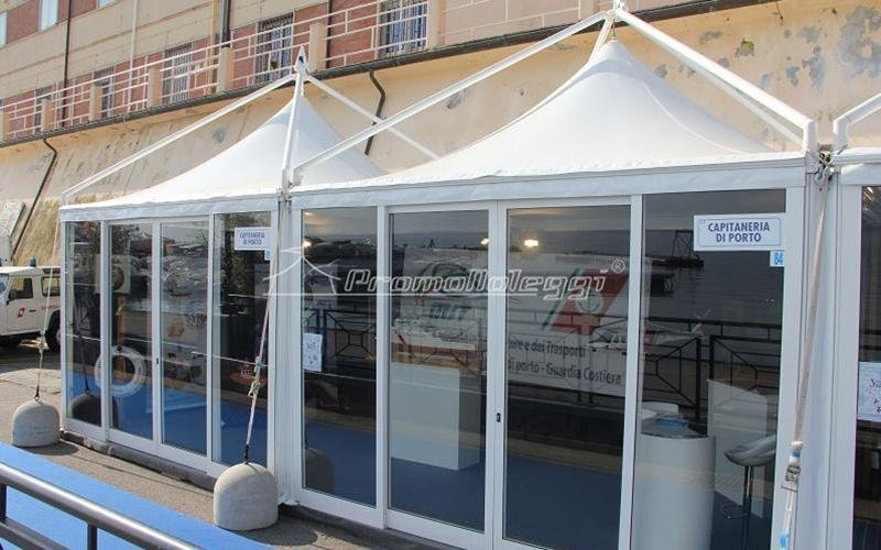 Yacht Med festival 2015 tensostrutture esterne