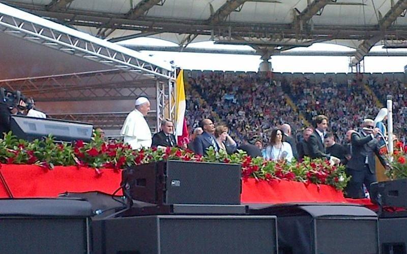 Allestimento evento 2014 Papa Stadio Olimpico