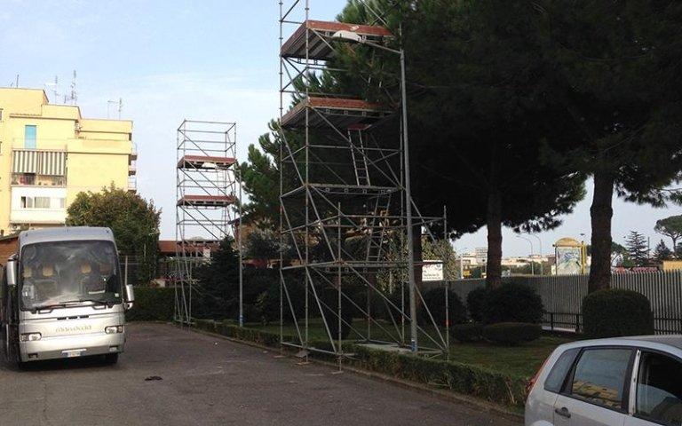 Messa in posa strutture Layher roma