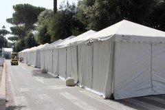 gazebo con chiusura perimetrale