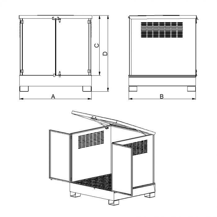 struttura armadi con vasca di raccolta