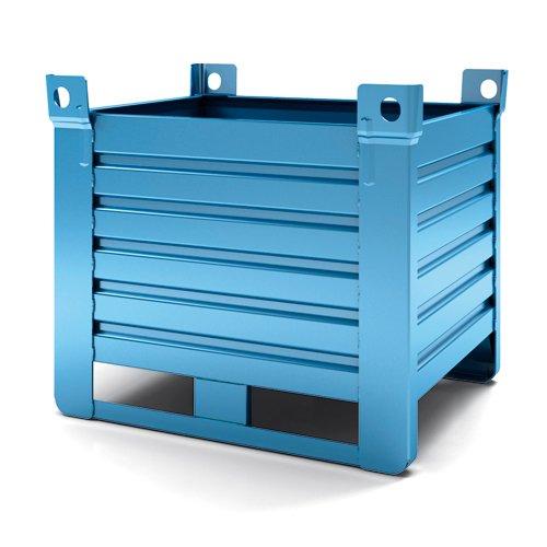 contenitore versione pesante blu slitta lato lungo