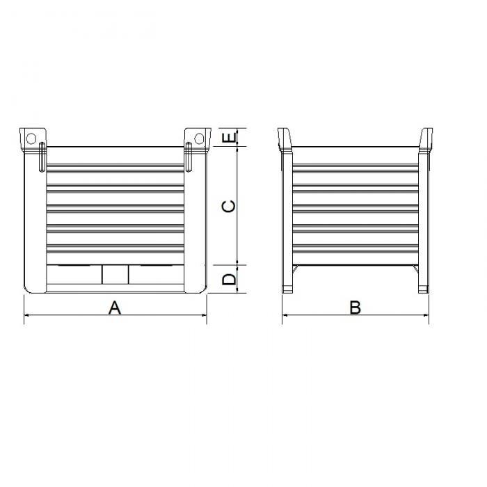 struttura contenitore versione pesante slitta lato lungo