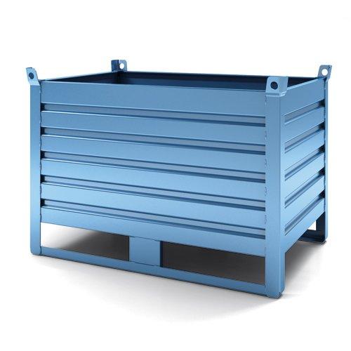 contenitori in lamiera blu