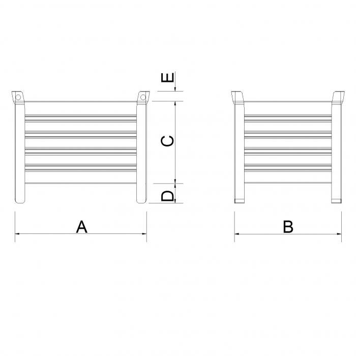 struttura contenitore versione leggera senza slitta