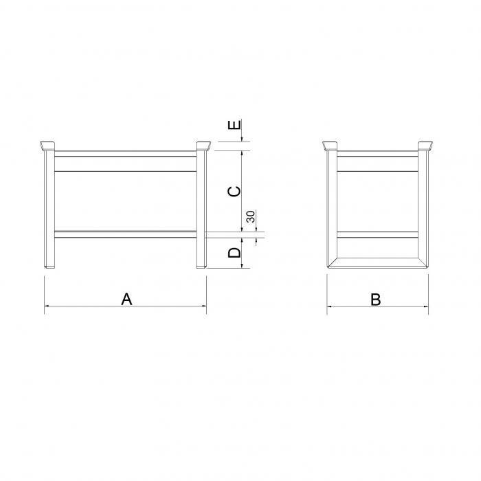 struttura contenitore con pareti lisce per svuotamento rapido primo modello