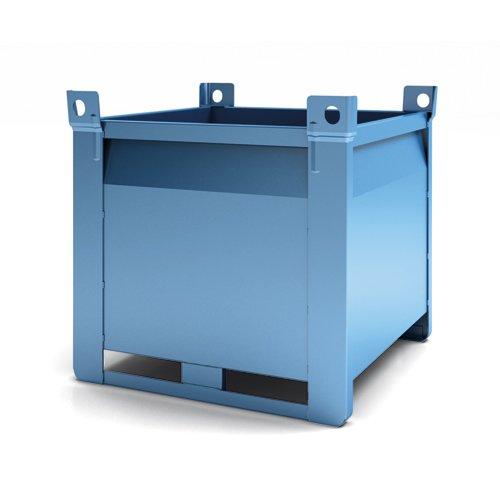 contenitore con pareti lisce per svuotamento rapido secondo modello