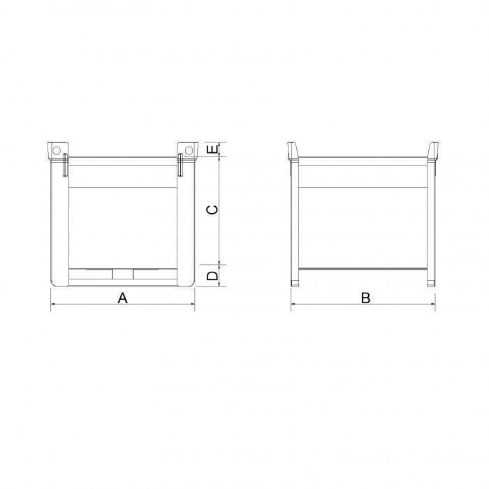 struttura contenitore con pareti lisce per svuotamento rapido secondo modello