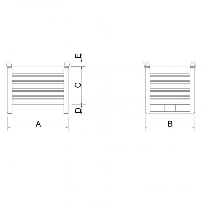 struttura contenitore versione leggera slitta lato corto