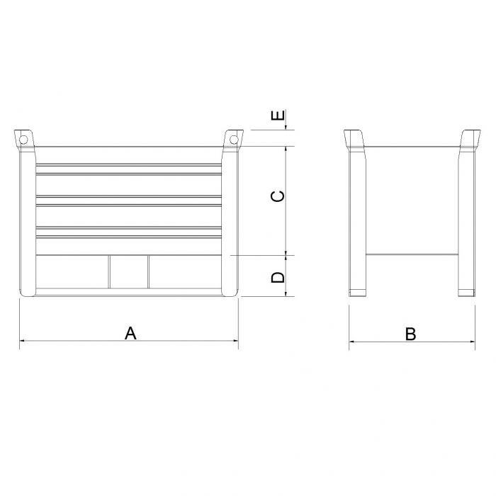 struttura contenitore versione leggera slitta lato lungo secondo modello