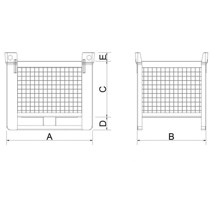 struttura box pesante slitta lato lungo