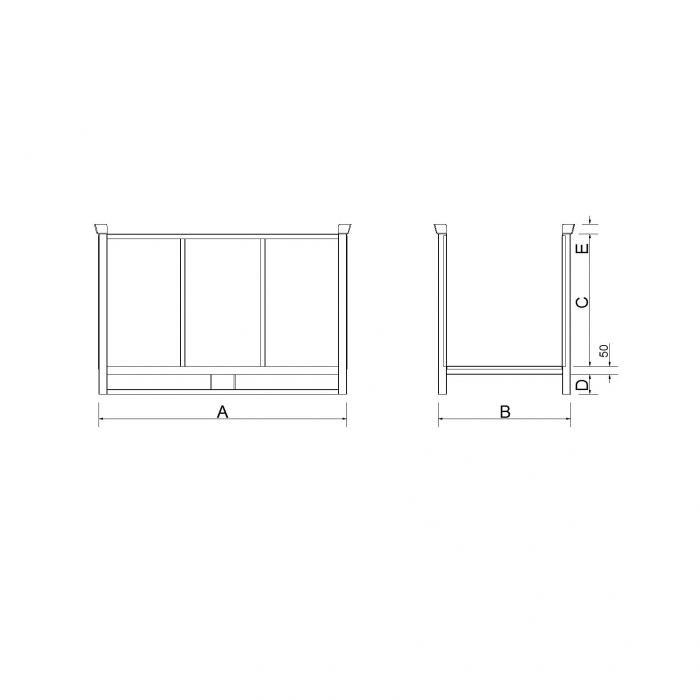struttura pedana porta stoffe