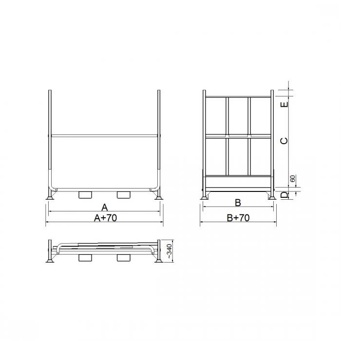 struttura porta pneumatici