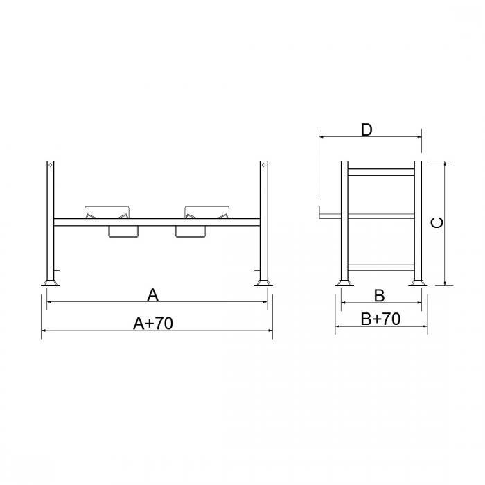 struttura tubolare porta fusti